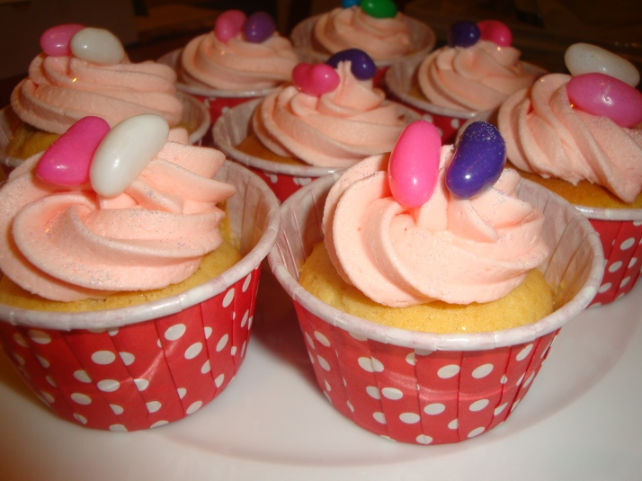 Cupcakes with Jelly Beans