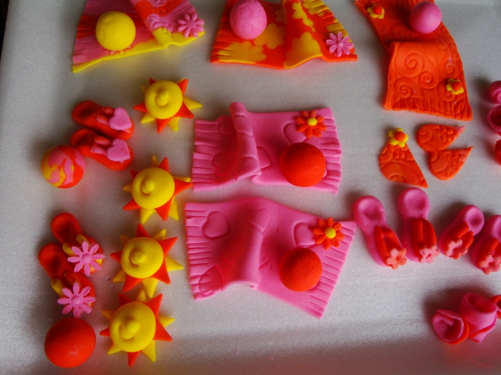 Summer Loving Sugarpaste Decorations