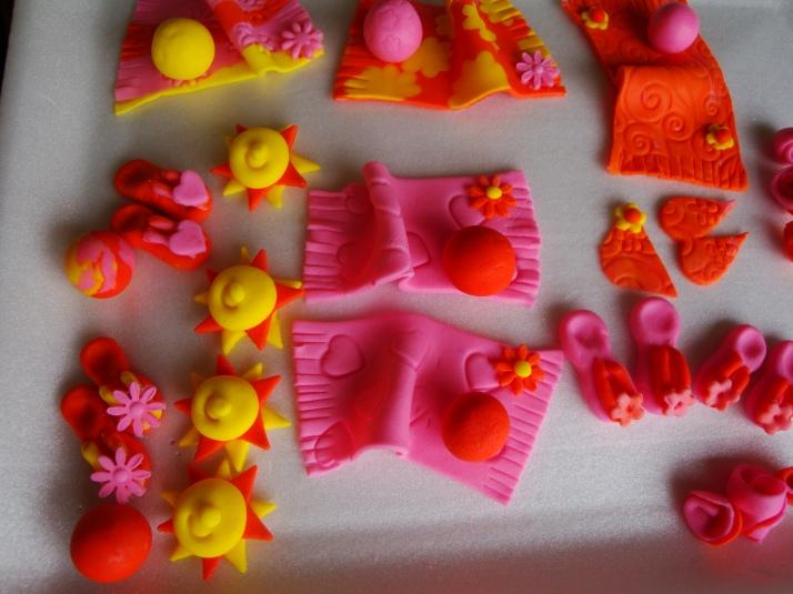 Summer Loving Sugarpaste Decorations