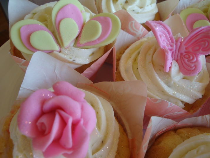 Lime Green & Pink Pistachio Cupcakes