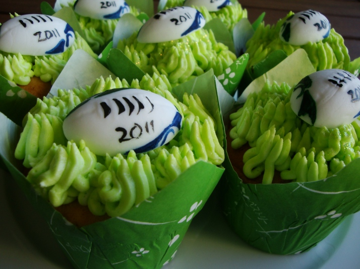 Rugby World Cup 2011 Cupcakes