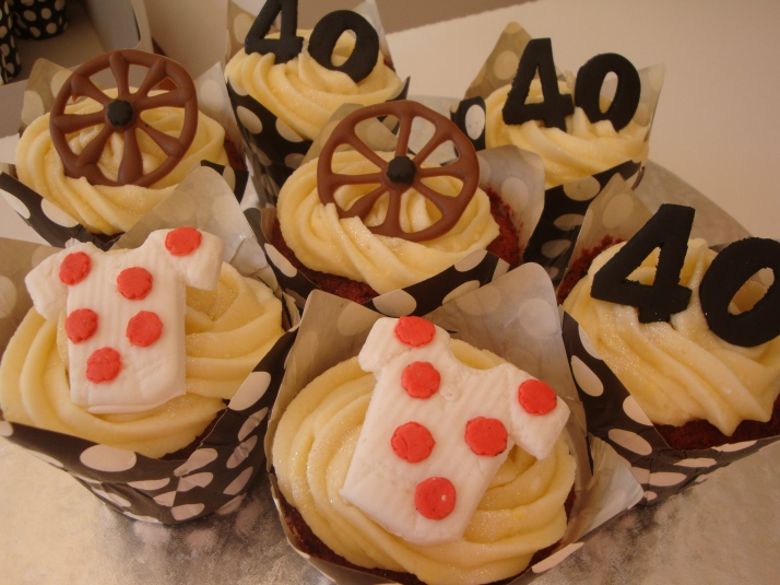 Bicycle Themed Cupcakes