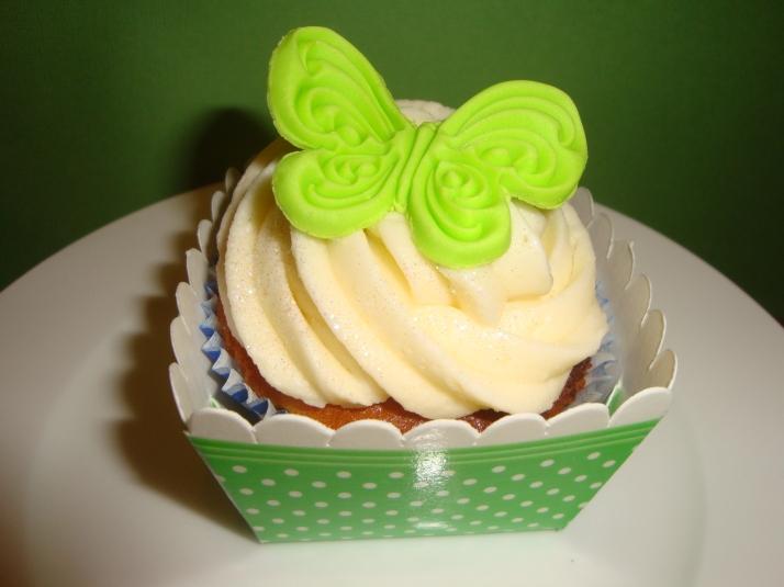 Irish Inspired Butterfly Cupcake