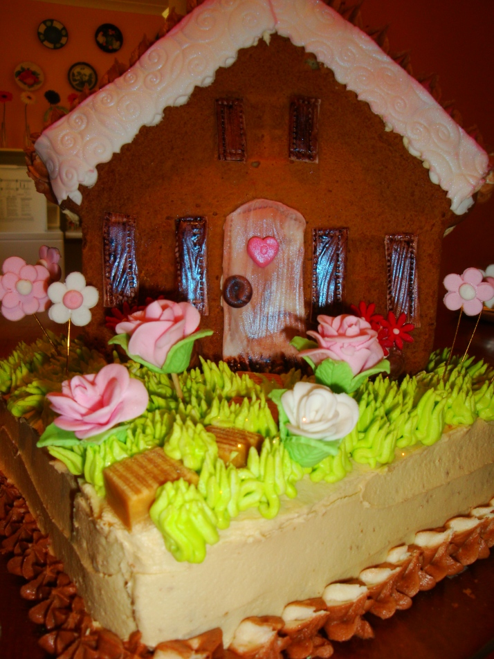 Little House & Flower Garden Cake