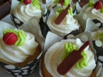 Cricket Bat & Ball Cupcakes