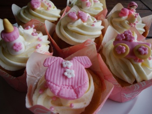 Cute Cupcakes for a Baby Girl