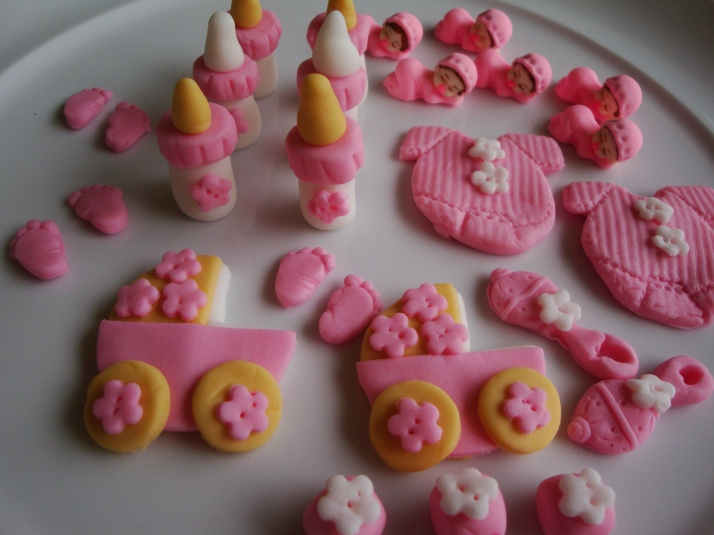 Cute Sugar Art for a Baby Girl
