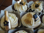 Black &Gold Bachelorette Cupcakes
