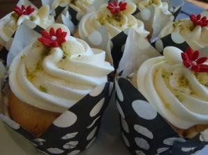 Cranberry, Pistachio, White Chocolate Cupcakes
