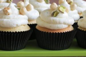 Hazelnut & Pistachio Cupcakes