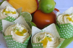 Key Lime & Mango Cupcakes
