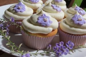 Lavender Petal Cupcakes