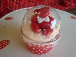 Snowglobe Cupcake - Red Teddy