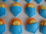 Sun in my Pocket Cupcake Sugar Art