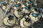 Black & Turquoise Wedding Cupcakes