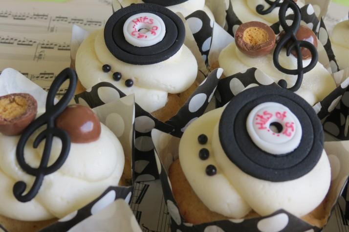 Music Birthday Cupcakes