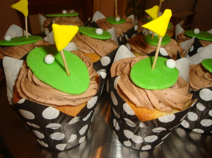 Golf Green Cupcakes
