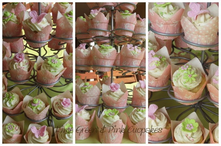 Lime Green & Pink Cupcakes