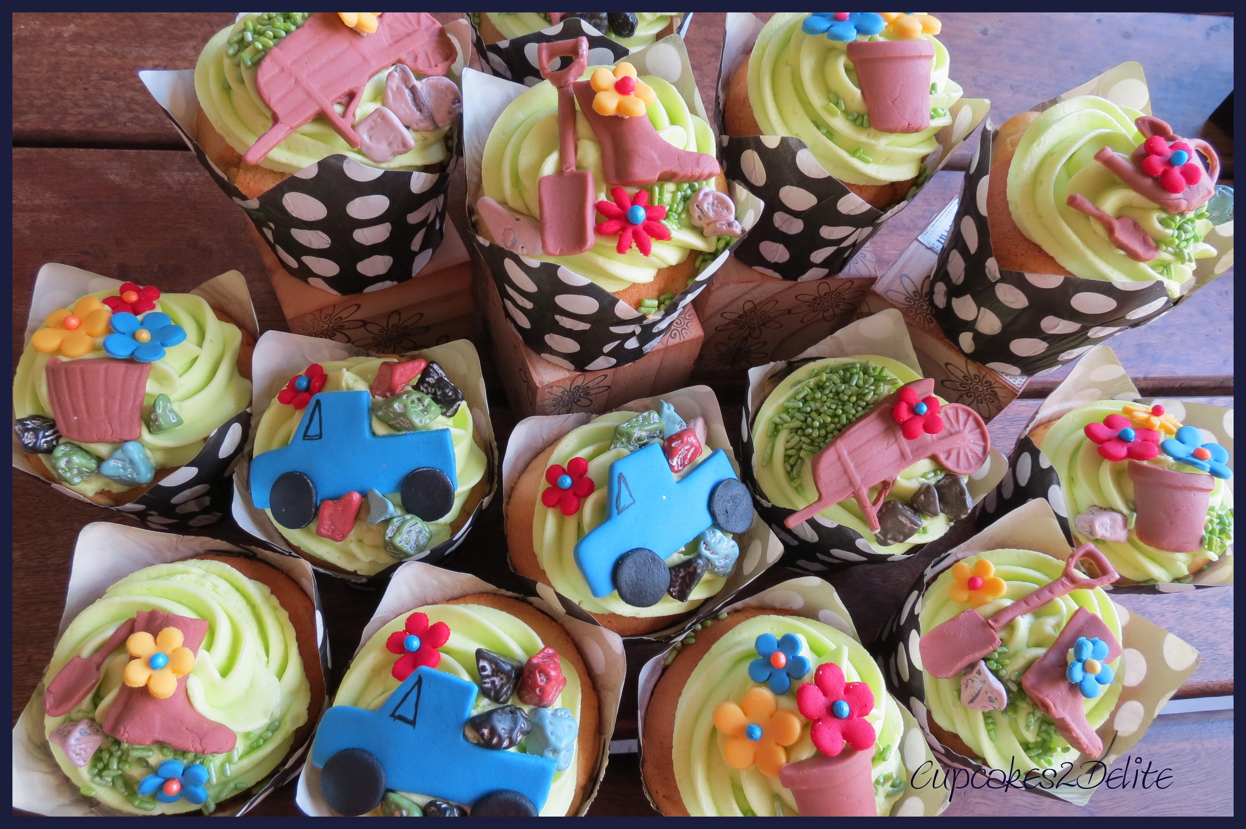 Garden Theme Cupcakes Cupcakes2delite