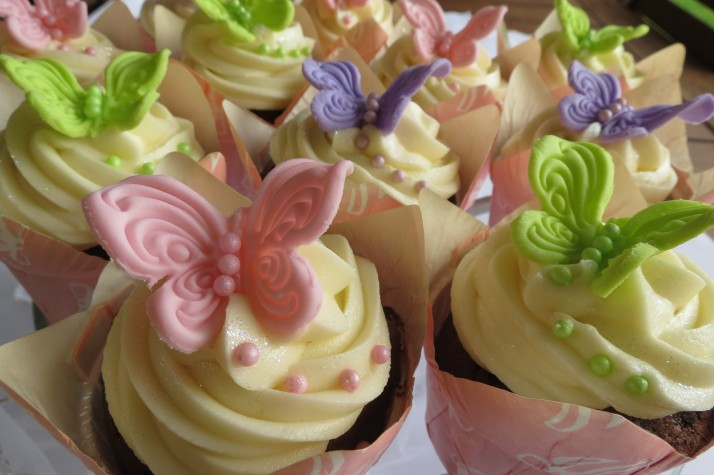 Pastel Butterfly Cupcakes