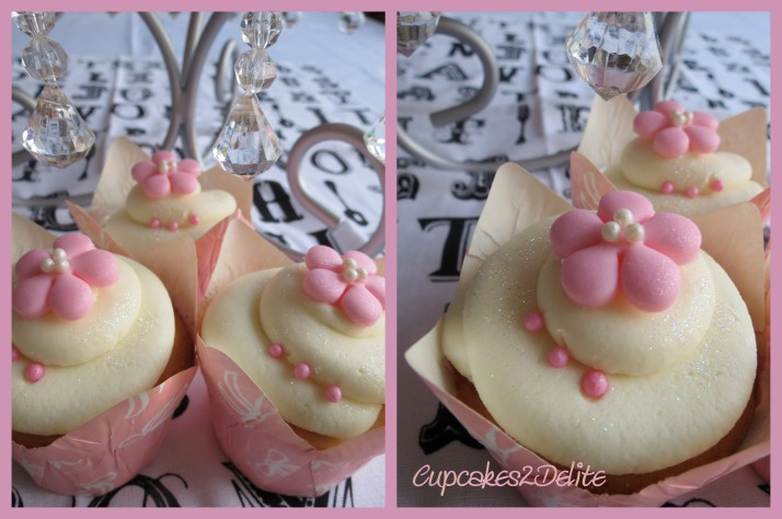 Pink Blossom Cupcakes