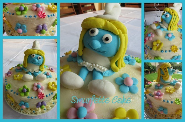 Smurfette Cake
