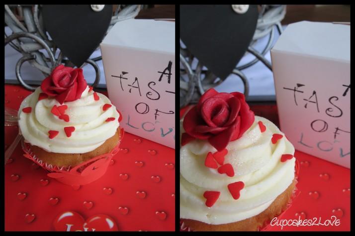 Valentines Rose Cupcake