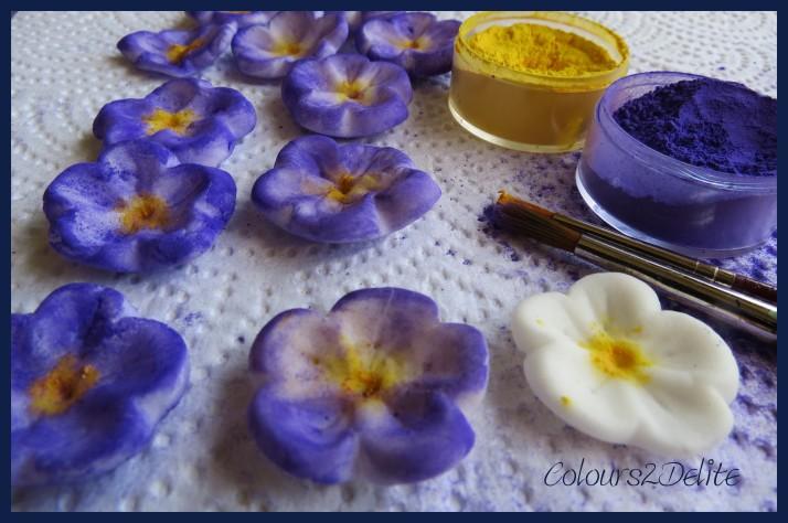 Sugar paste violets & Rolkem food colourings