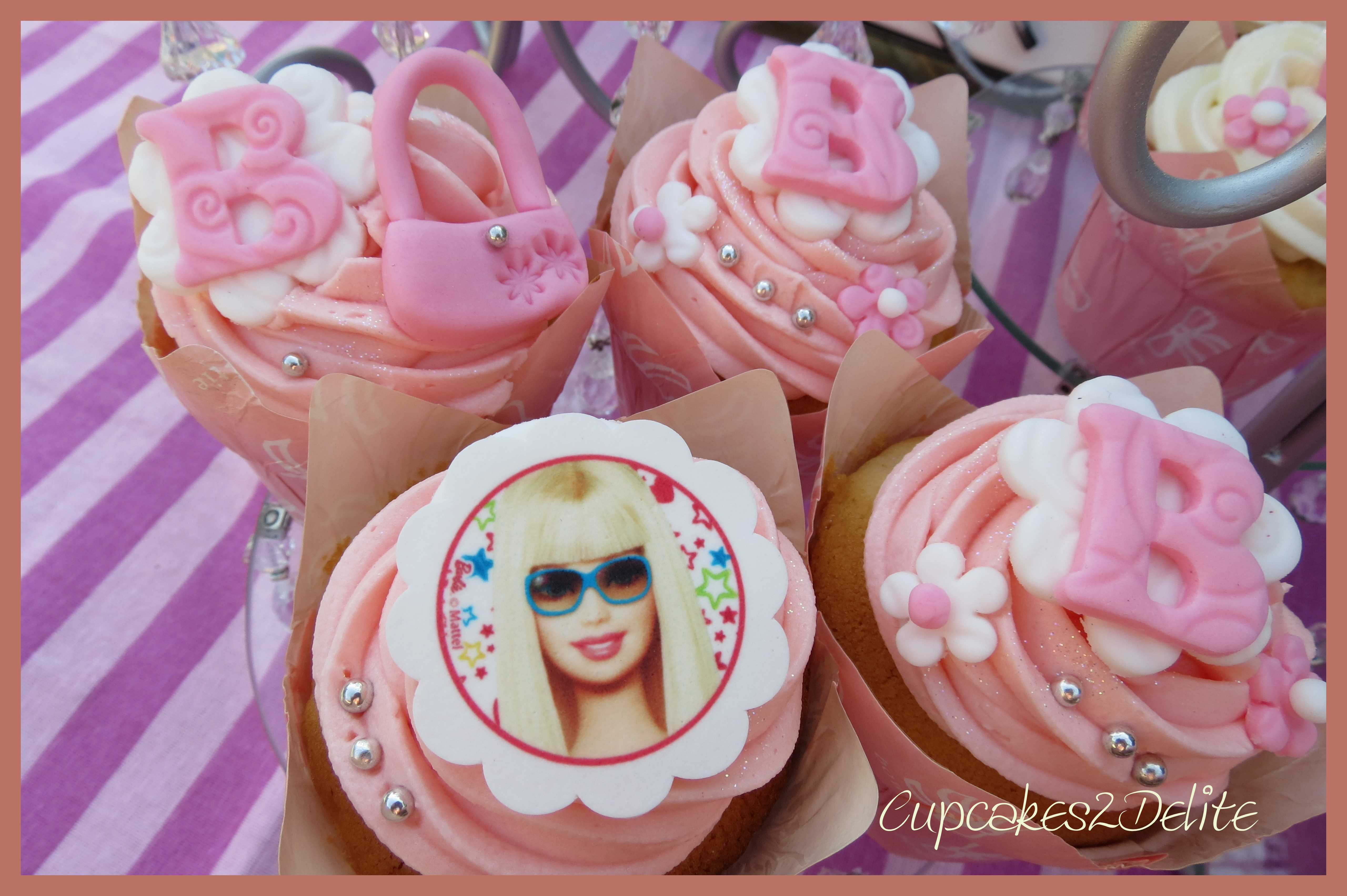 Barbie Girl In A Barbie World Cupcakes Cupcakes2delite
