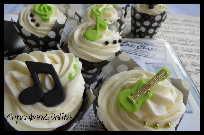 Guitar Cupcakes