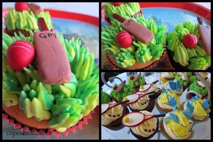 Cricket, Sport Cupcakes