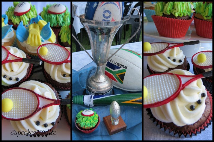 Rugby, Swimming Cupcakes