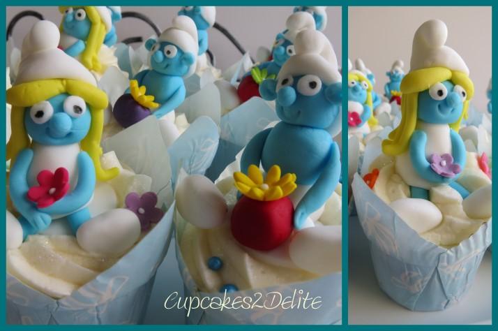 Smurf & Smurfette Cupcakes