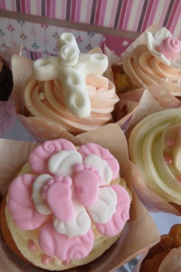 Christening Cupcakes for a Girl