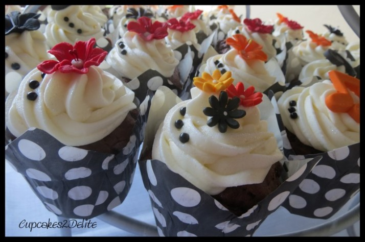 Red, Yellow, Orange & Black Cupcakes
