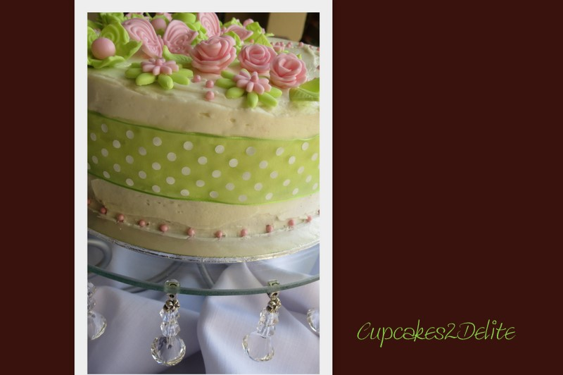 Lime Green Pink Birthday Cake Cupcakes2delite