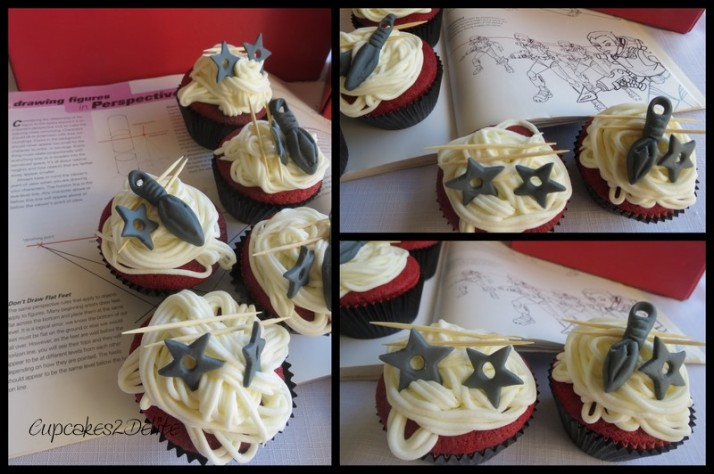 Naruto Weapons Cupcakes