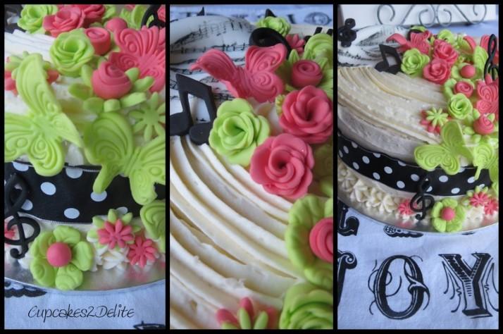 Music & Flower Cake
