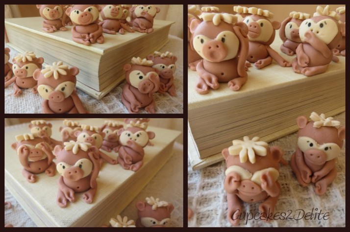 Sugarpaste Monkeys