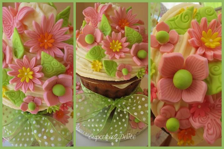Giant Cupcake Cake For Michelle S Birthday Cupcakes2delite