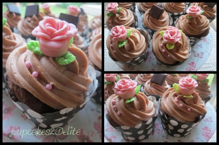 Pink Pepper & Pink Roses Cupcakes