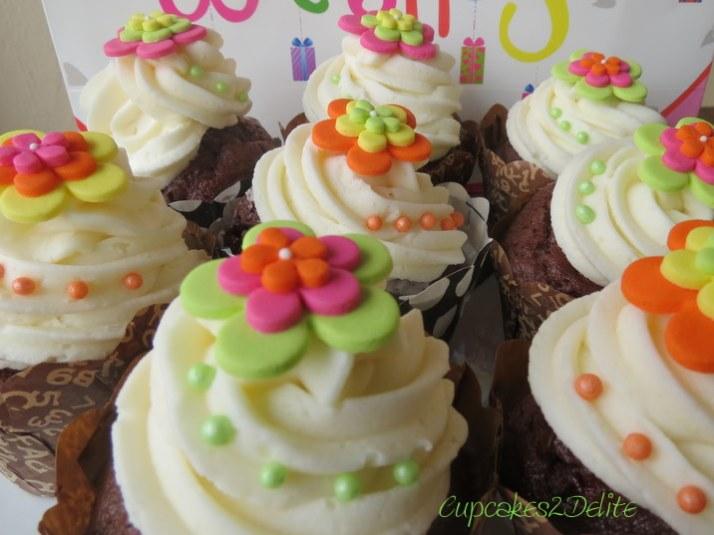 Funky Birthday Cupcakes