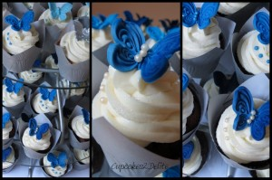 Blue Butterfly Cupcakes