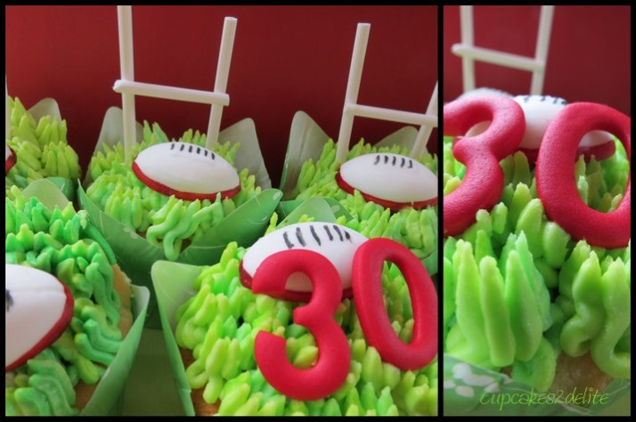 Lions Rugby Cupcakes
