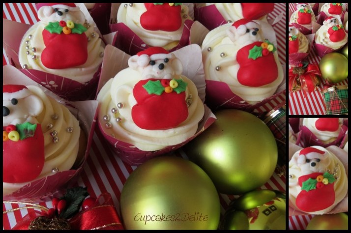Jingle Bells and Pitter Patter Christmas Cupcakes!