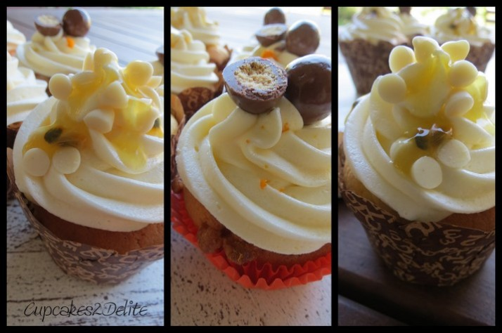 Passionfruit & Orange Cupcakes