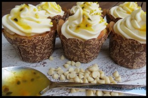 Passionfruit Cupcakes & White Chocolate Cupcakes