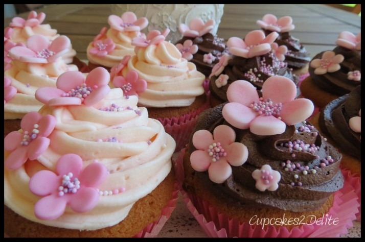 Pink Blossom 21st Cupcakes