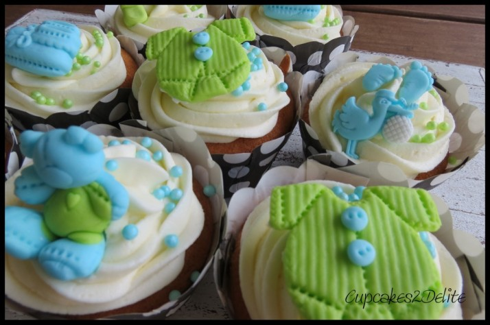 Baby Shower Cupcakes for a Boy
