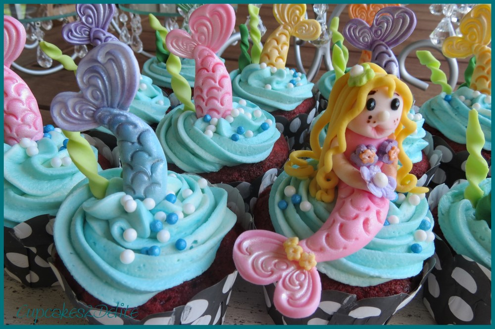 Mermaid Cupcakes for Jess cupcakes2delite